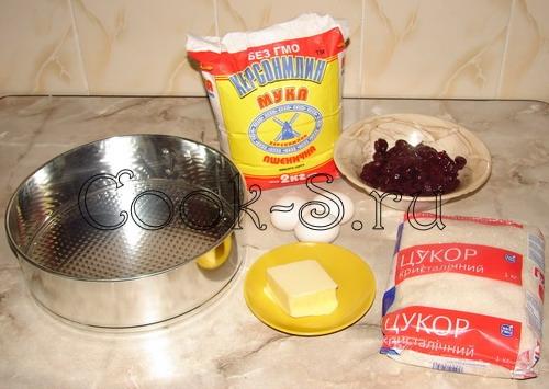 пирог с вишней - ингредиенты