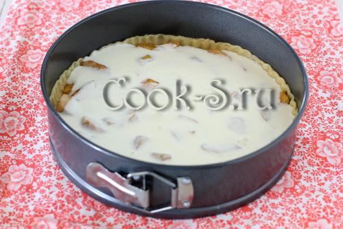 пирог с яблоками и грушами в сметанной заливке