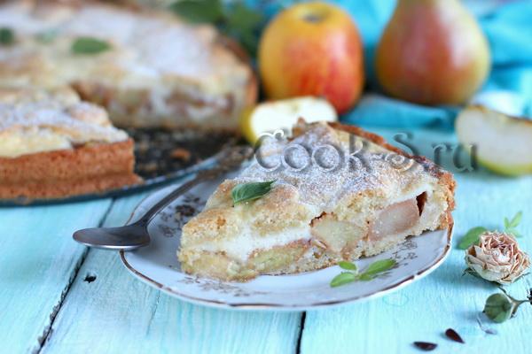 пирог с яблоками и грушами