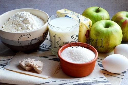 пирожки с яблоками в духовке - ингредиенты