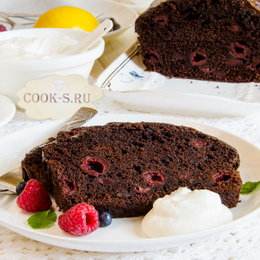 Торт с вишнями и сметанным кремом рецепт с фото пошагово