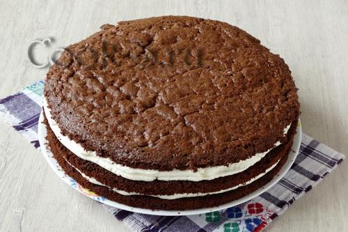 торт чёрный лес с пошаговым фото