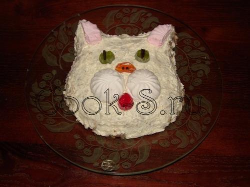 Как приготовить торт коту