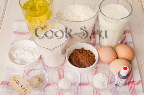 торт красный бархат - ингредиенты для теста