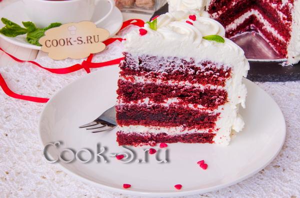 торт красный бархат рецепт с фото пошагово в домашних условиях