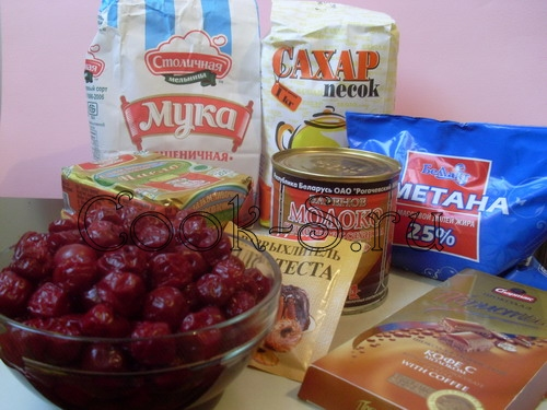 торт монастырская изба - ингредиенты