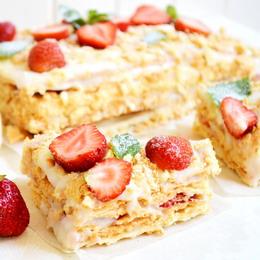 Торт наполеон с фруктами