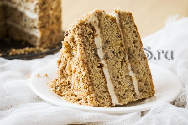 Торт рыжик со сметанным кремом рецепт пошагово
