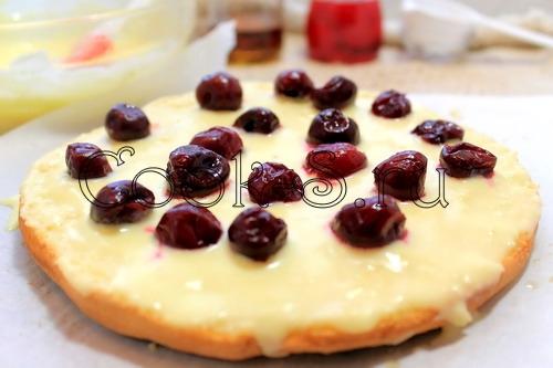 Торт с вишней пошаговый рецепт с фото