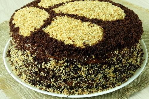 Схема торта сметанника