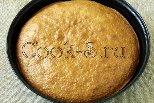 корж для торта бисквитный