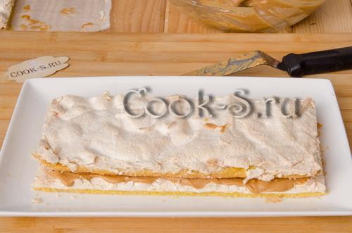 торт воздушный сникерс с фото пошагово