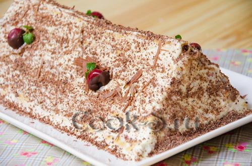 торт зимняя вишня со сметанным кремом