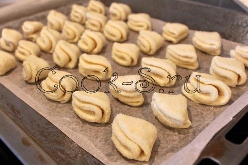печенье поцелуйчики из творога рецепт с фото
