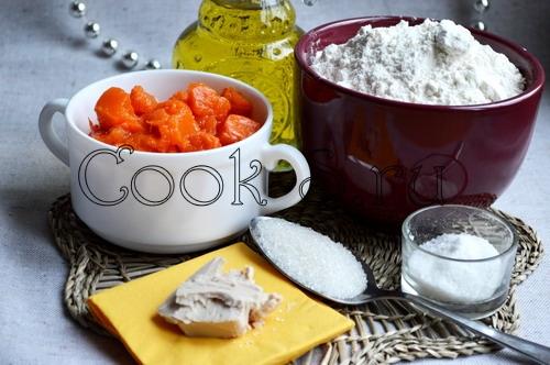тыквенный хлеб - ингредиенты