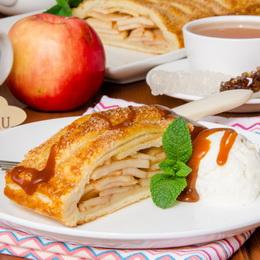 Яблочный пирог из готового слоеного теста