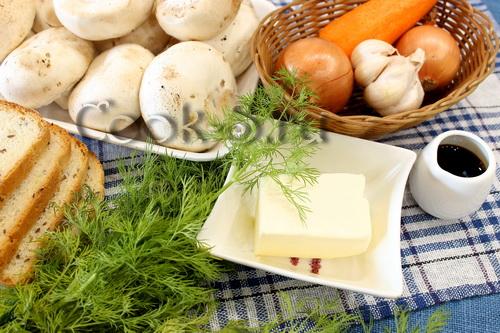 Рецепт салат слоями из грибов и огурцов