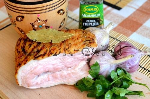 маринованное сало - ингредиенты