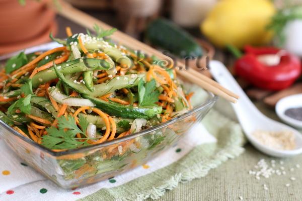 огурцы с морковью по-корейски