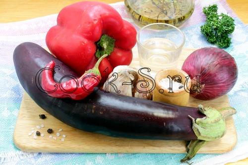 острая закуска из баклажанов - ингредиенты