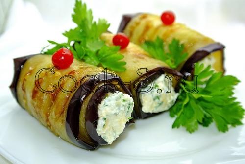 рулетики из баклажанов с сыром и чесноком фото рецепт