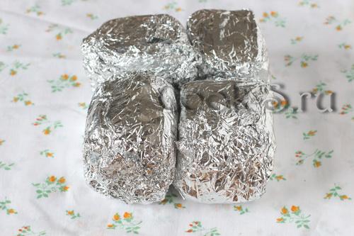 соленое сало в фольге