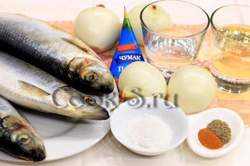 сельдь по-корейски - ингредиенты