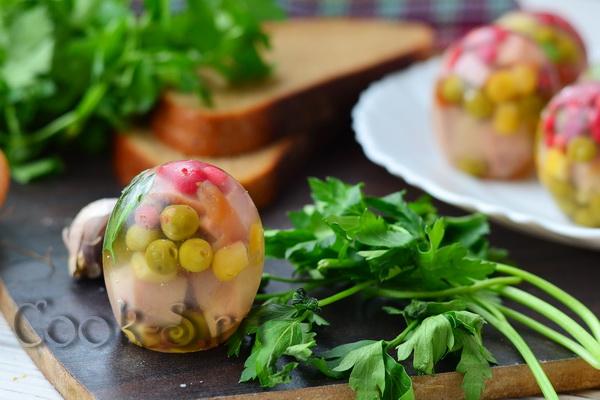 рецепт заливных яиц с фото
