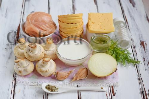 жульен в тарталетках с грибами и курицей рецепт