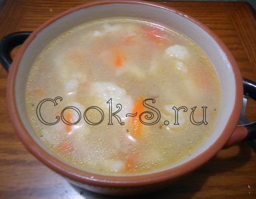 Суп куриный с клецками по-деревенски – кулинарный рецепт