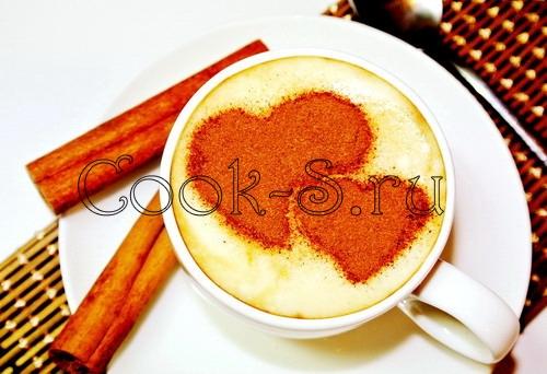 Кофе латте с корицей, пошаговый рецепт с фото