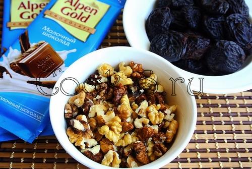 Печенье с шоколадом и черносливом – кулинарный рецепт