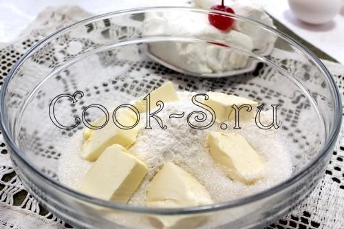 Ватрушка в стиле чизкейка с грушевой начинкой, вариант 2 - полный рецепт – кулинарный рецепт