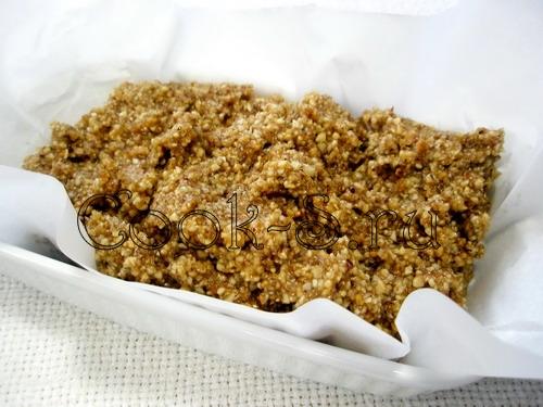 Ореховый кекс с халвой