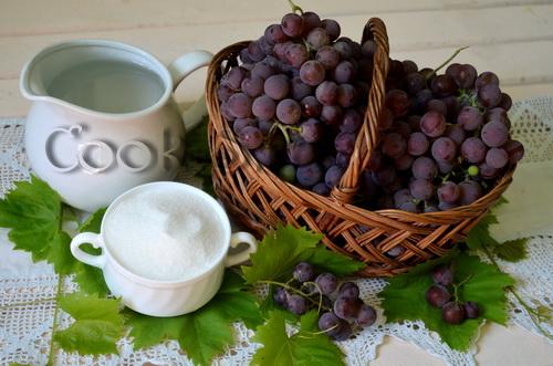 виноградный сок на зиму - ингредиенты