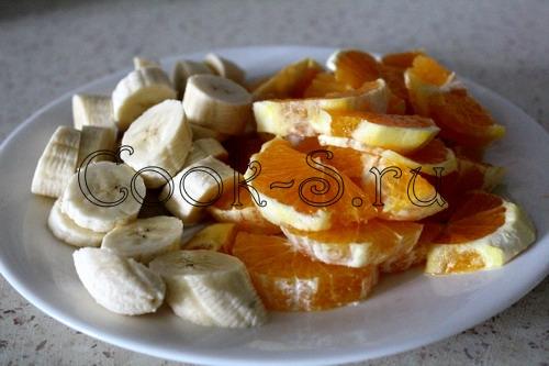 Мандариново-банановый смузи – кулинарный рецепт