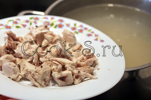 Суп с хлопьями и шпинатом – кулинарный рецепт