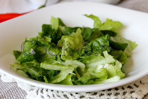 Салат Цезарь с курицей, пошаговый рецепт с фото
