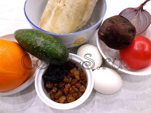 """Закусочный торт """"Сани деда мороза"""" – кулинарный рецепт"""