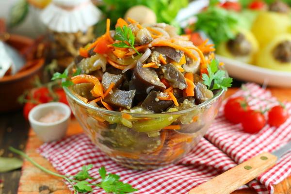 салат из баклажанов по-одесски пошаговый рецепт с фото