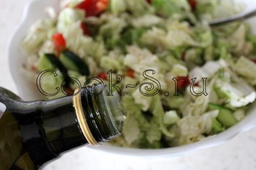 Салат из капусты и сладкого перца