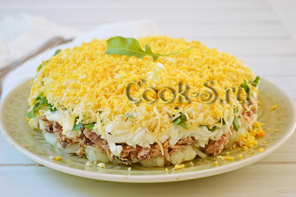 Салат мимоза по-новому, пошаговый рецепт с фото