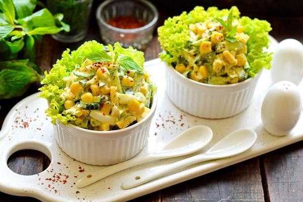 Салат Одесса с кукурузой – рецепт с фото