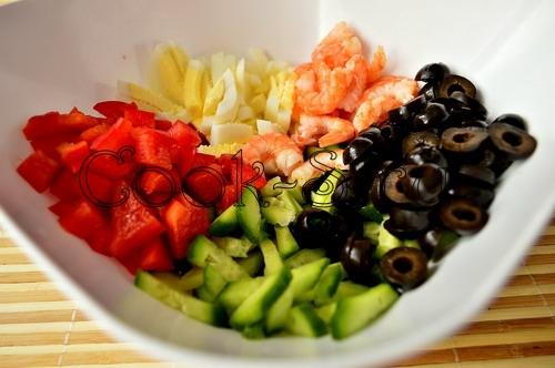 Тортеллини с креветками и оливками, пошаговый рецепт с фото
