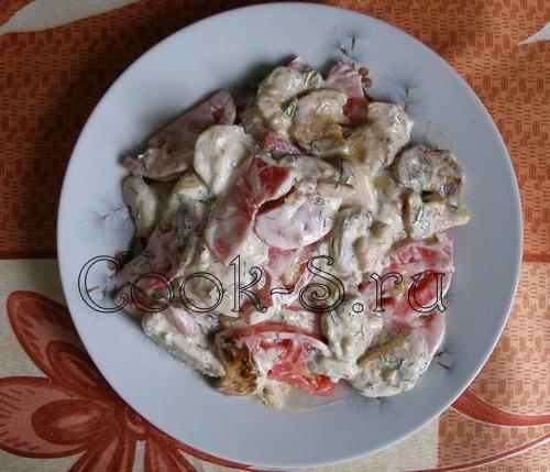 Салат с помидорами и печеными кабачками – кулинарный рецепт