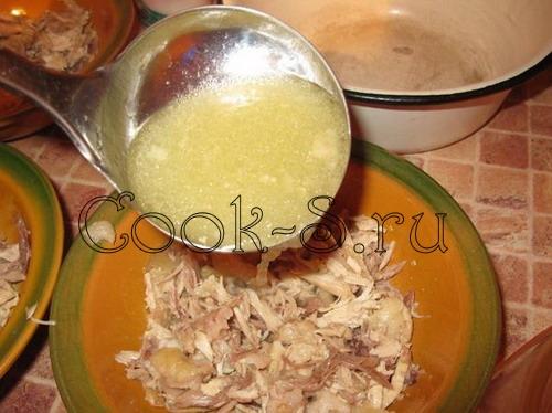 Холодец из мяса и курицы, пошаговый рецепт с фото