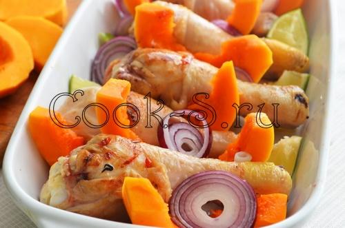 Диетический плов с курицей и тыквой – кулинарный рецепт