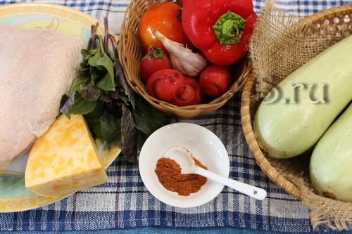 """Куриный + овощной шашлычки """"2 -в-1 """" – кулинарный рецепт"""