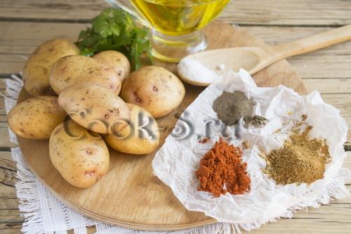 жареная картошка по-деревенски - ингредиенты