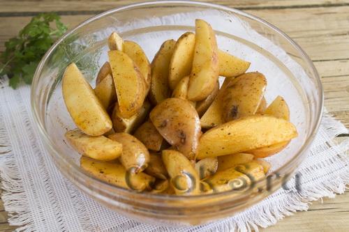 картошка в маринаде
